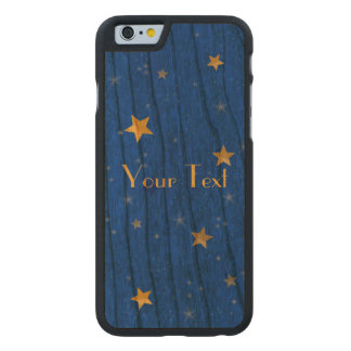 Blue Sky Golden Stars Carved® Cherry iPhone 6 Case