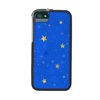 Blue Sky Golden Stars iPhone 5 Covers