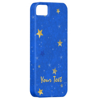 Blue Sky Golden Stars Barely There iPhone 5 Case