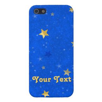 Blue Sky Golden Stars Case For iPhone 5/5S