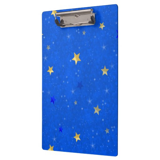 Blue Sky Golden Stars Clipboard