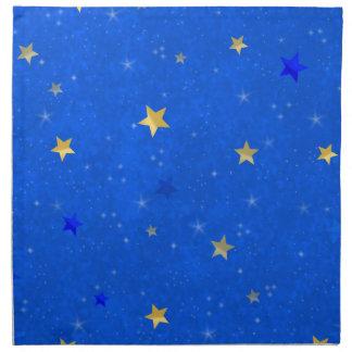Blue Sky Golden Stars Napkins
