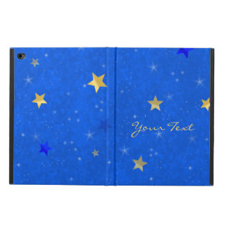 Blue Sky Golden Stars Customizable Name