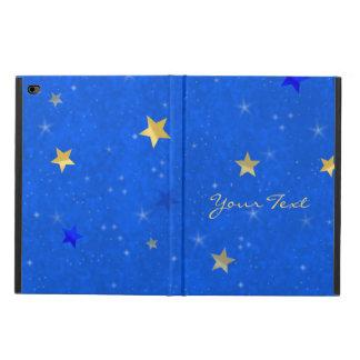 Blue Sky Golden Stars Customizable Name