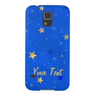 Blue Sky Golden Stars Galaxy S5 Cases
