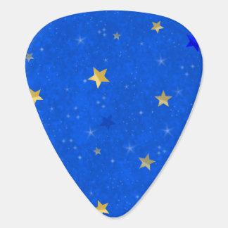 Blue Sky Golden Stars Plectrum
