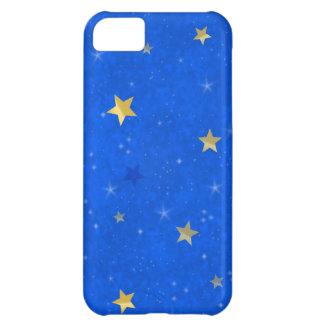 Blue Sky Golden Stars iPhone 5C Case
