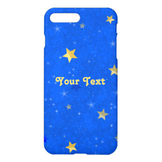 Blue Sky Golden Stars iPhone 7 Plus Case