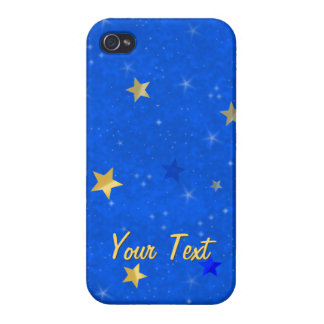 Blue Sky Golden Stars iPhone 4 Cover