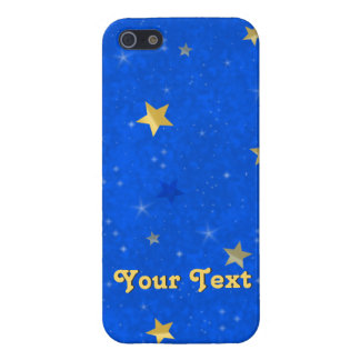 Blue Sky Golden Stars Case For iPhone 5