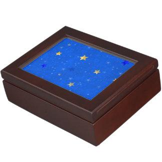 Blue Sky Golden Stars Keepsake Boxes