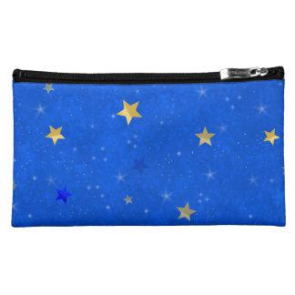 Blue Sky Golden Stars Makeup Bags