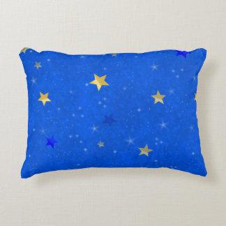 Blue Sky Golden Stars Accent Pillow