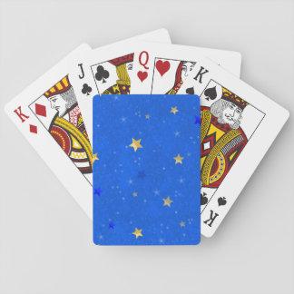 Blue Sky Golden Stars Poker Deck