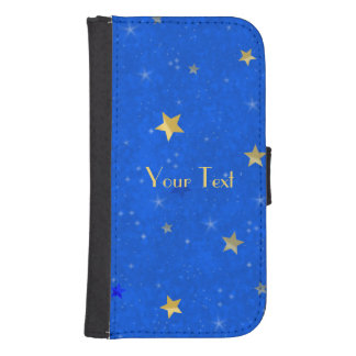 Blue Sky Golden Stars Samsung S4 Wallet Case