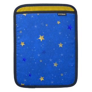 Blue Sky Golden Stars Sleeves For iPads