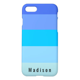 Blue Sky Hues Personalized Custom Name Monogram iPhone 8/7 Case