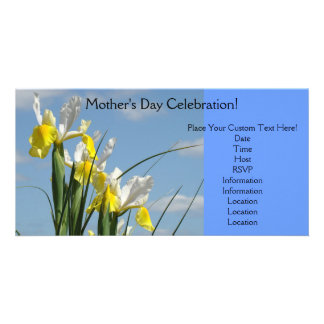 Blue Sky Invitations Mother's Day Celebration Card Photo Card Template