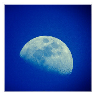 Blue Sky Moon Poster
