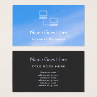 """Blue Sky"" Network Engineer Business Cards"