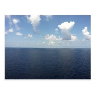 Blue Sky On Ocean Postcard