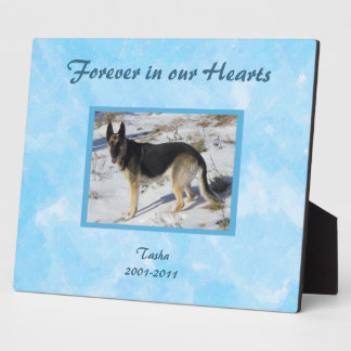 Blue SKy Pet Memorial Photo Plaque