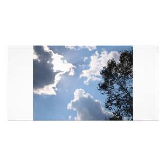 Blue sky photo greeting card