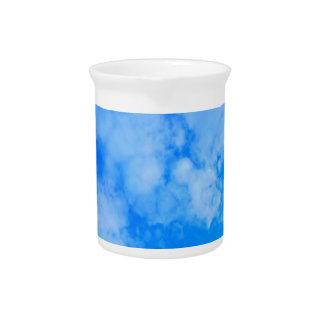 blue sky. pitcher