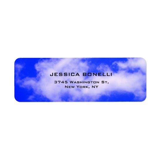 Blue Sky Plain Modern Trendy Minimalist Return Address Label