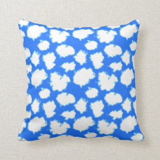 Blue Sky & Puffy White Clouds Throw Pillow