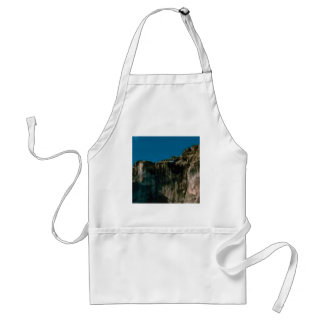 blue sky rock cliffs standard apron