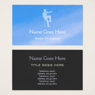 """Blue Sky"" Rock Climbing Business Cards"