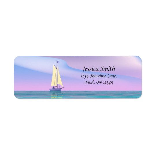 Blue Sky Sailing Return Address Label