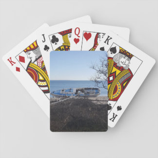 Blue Sky Shipwrecked Playing Cards