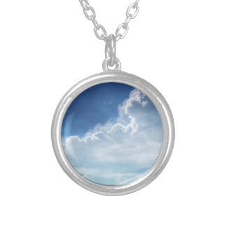 blue sky silver plated necklace