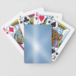 Blue Sky Snow Background Bicycle Playing Cards