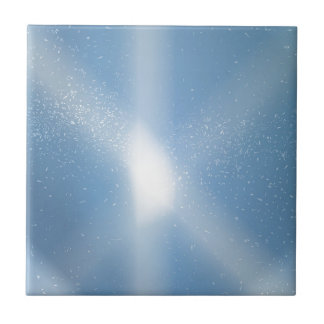 Blue Sky Snow Background Ceramic Tile