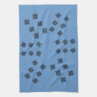 Blue Sky Snowflake Towels