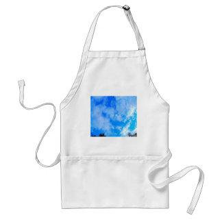 blue sky. standard apron