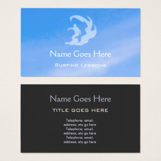"""Blue Sky"" Surfing Business Cards"