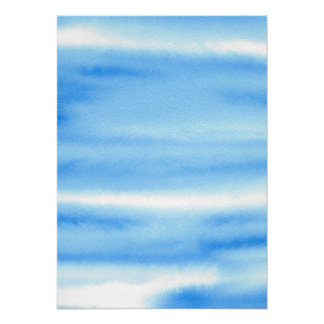 Blue Sky Watercolor Abstract Poster