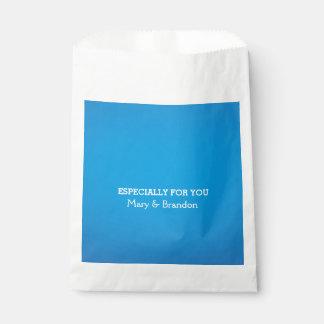 Blue Sky Watercolor Wedding Favour Bags