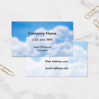 Blue Sky White Clouds Background Business Card