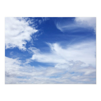 Blue Sky White Clouds Background - Customized 14 Cm X 19 Cm Invitation Card