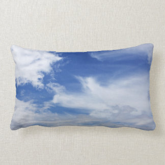 Blue Sky White Clouds Background - Customized Cushion