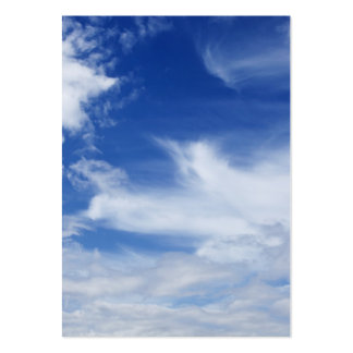 Blue Sky White Clouds Background - Customized Pack Of Chubby Business Cards