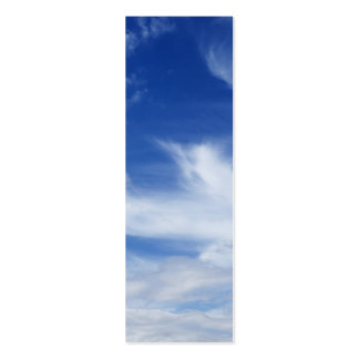 Blue Sky White Clouds Background - Customized Pack Of Skinny Business Cards