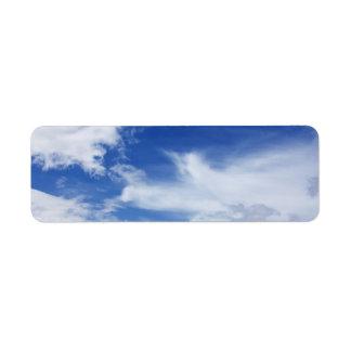 Blue Sky White Clouds Background - Customized Return Address Label