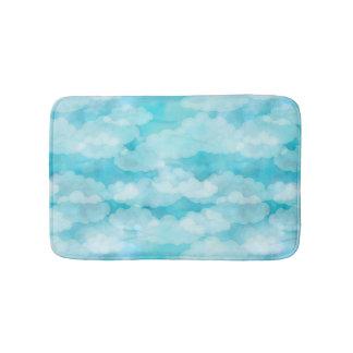Blue Sky, White Clouds, Cloudscape, Cloudy Sky Bath Mat