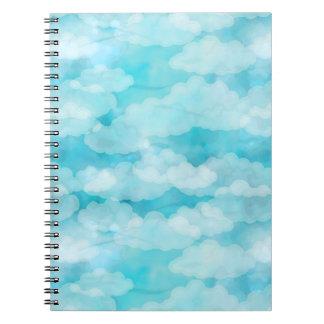 Blue Sky, White Clouds, Cloudscape, Cloudy Sky Spiral Notebook
